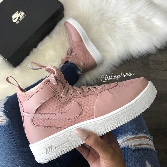 204791cc51515 Nike Shoes   New Air Force 1 Ultraforce Mid Particle Rose   Poshmark